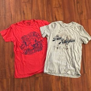 2 True Religion men's size S T-shirts